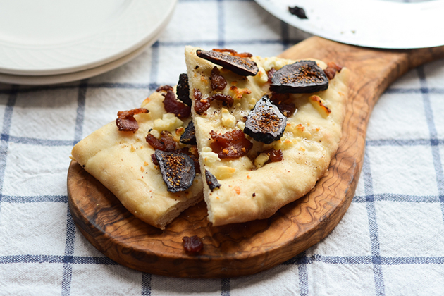 Tasty Kitchen Blog: Figgy Piggy Pizza. Guest post by Erica Kastner of Buttered Side Up, recipe submitted by TK member Christina of Dessert for Two.