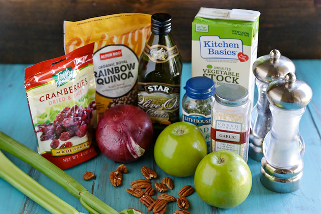 Tasty Kitchen Blog: Quinoa Pilaf with Green Apples, Dried Cranberries and Pecans. Guest post by Megan Keno of Wanna Be a Country Cleaver, recipe submitted by TK member Holly Kirby of American Vegetarian.