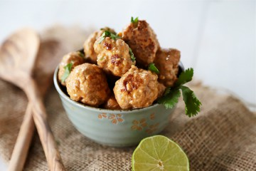Tasty Kitchen Blog: Thai Red Curry Chicken Meatballs. Guest post by Megan Keno of Wanna Be a Country Cleaver, recipe submitted by TK member Kelley of Chef Savvy.
