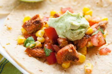Tasty Kitchen Blog: Looks Delicious! (Salmon Tacos with Avocado Crema, submitted by TK member Sarah of Real Food and Ice Cream)