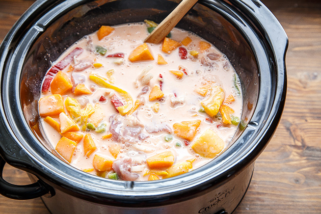 Tasty Kitchen Blog: Slow Cooker Thai Chicken. Guest post by Christina of Dessert for Two, recipe submitted by TK member Erin of Well Plated.
