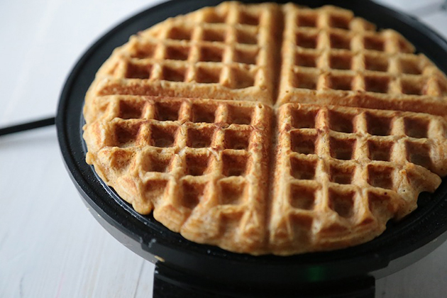Tasty Kitchen Blog: Sweet Potato Waffles. Guest post by Megan Keno of Wanna Be a Country Cleaver, recipe submitted by TK member Carolina Heartstrings.