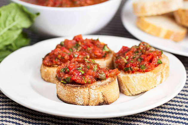 Tasty Kitchen Blog: Looks Delicious! (Easy Caper Tomato Bruschetta, submitted by TK member Christin of Veggie Chick)