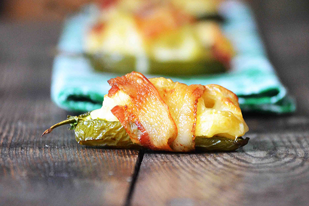 Tasty Kitchen Blog: Mac and Cheese (Macaroni and Cheese Stuffed Jalapeno Peppers Wrapped in Bacon)