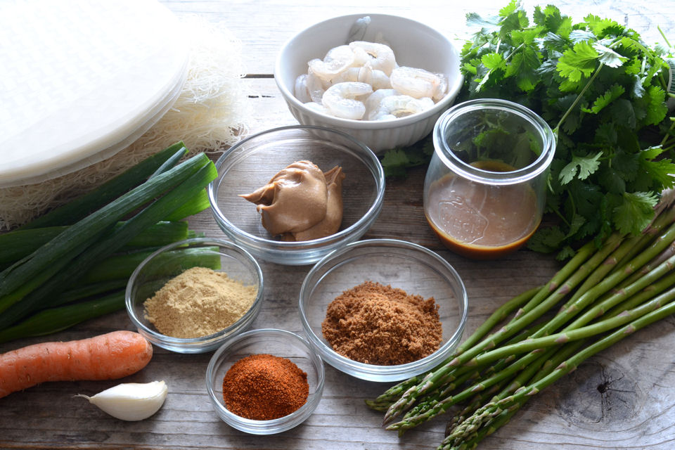 Tasty Kitchen Blog: Shrimp Spring Rolls with Sweet and Spicy Peanut Dipping Sauce. Guest post by Erica Kastner of Buttered Side Up, recipe submitted by TK member Lauren of Lauren's Latest.