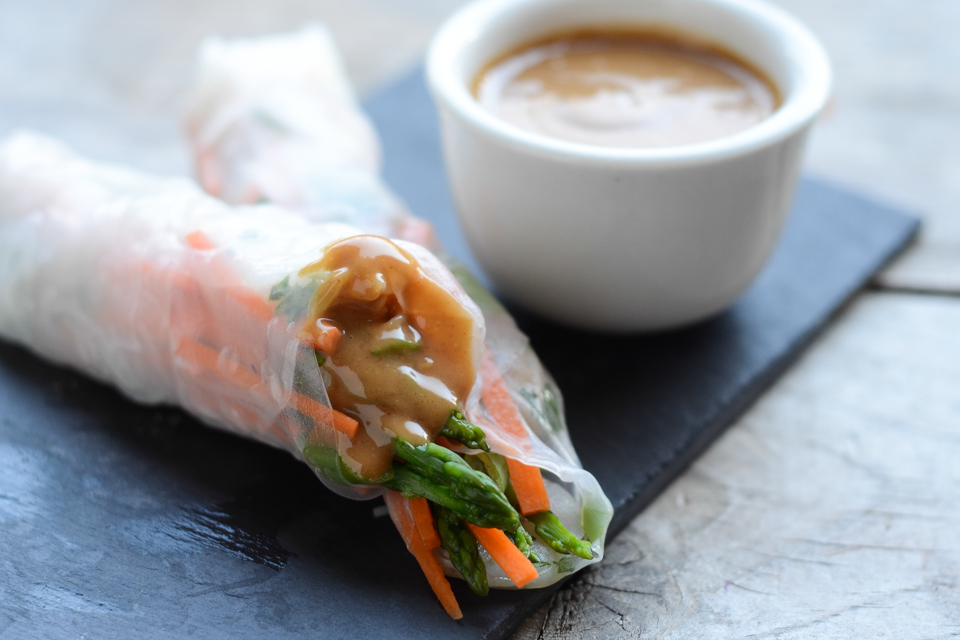 ... Rolls with Sweet and Spicy Peanut Dipping Sauce | Tasty Kitchen Blog