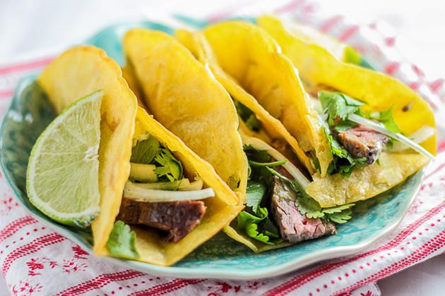 Tasty Kitchen Blog: Cinco de Mayo Roundup! (Carne Asada Baja Street Tacos, submitted by TK member Bita of Honest & Tasty)