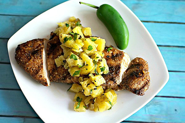 Tasty Kitchen Blog: Looks Delicious! (Easy Jerk Chicken with Grilled Pineapple Salsa, submitted by TK member Karrie of Tasty Ever After)