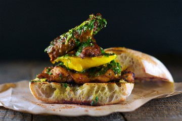 Tasty Kitchen Blog: Looks Delicious! (Mango and Smoked Chorizo Sandwich with Blackened Chicken and Chimichurri, submitted by TK member by Nitin Budhiraja of Nomaste)
