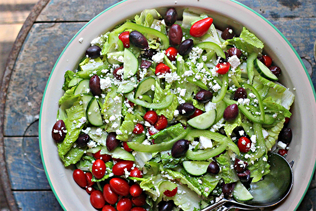 Tasty Kitchen Blog: Looks Delicious! (Greek Salad with The Best Feta Vinaigrette, submitted by TK member Julie Andrews of The Gourmet RD)