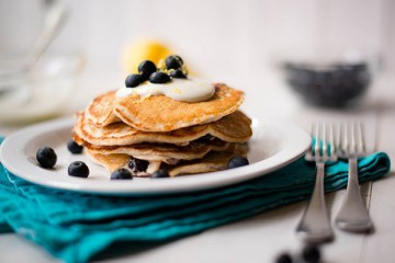 Tasty Kitchen Blog: Looks Delicious! (Lemon Blueberry High Protein Pancakes, submitted by TK member Lacey Baier of A Sweet Pea Chef)