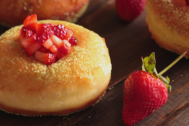 Tasty Kitchen Blog: Looks Delicious! (Strawberry Matcha Brioche Donuts, submitted by TK member Denisse of La Petit Eats)