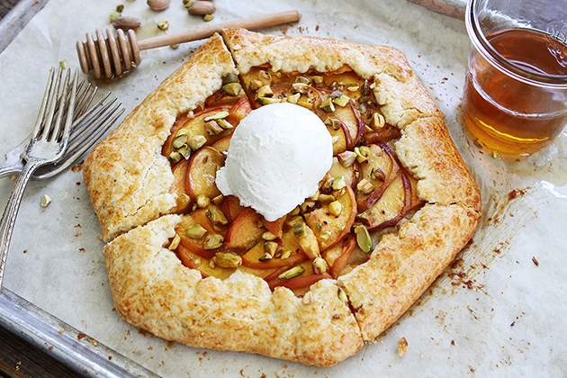 PW Food & Friends: Peach Pistachio Galette