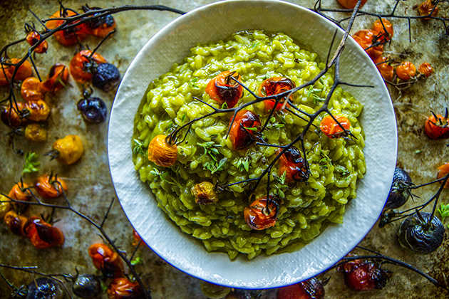 PW Food & Friends: Spinach Basil Pesto Risotto