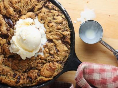 One-Pan Dark Chocolate Chunk Skillet Cookie
